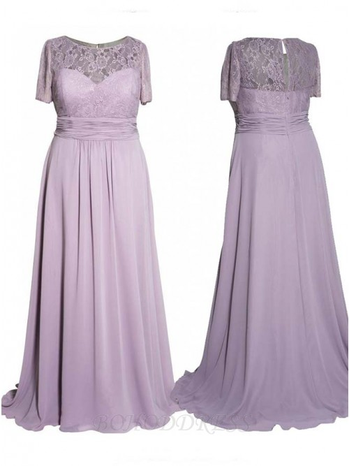 New Arrival Long Mother of the Bride Dresses Plus Size Short Sleeves