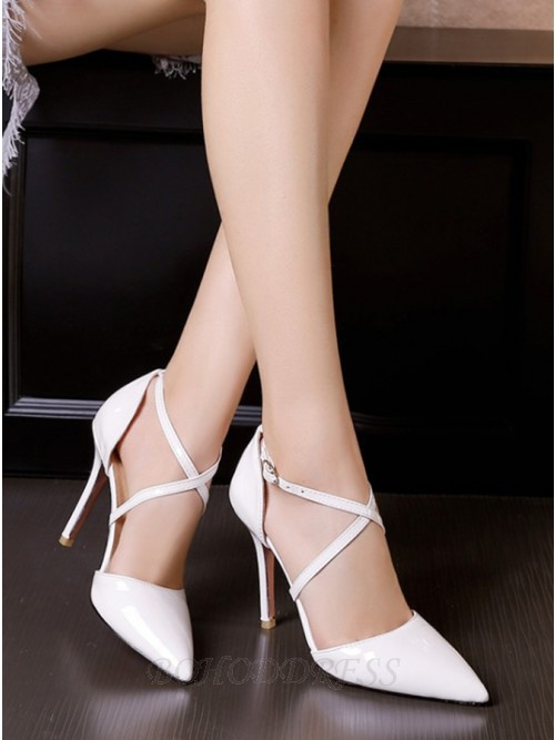 White Pointy Toe Stiletto Heels