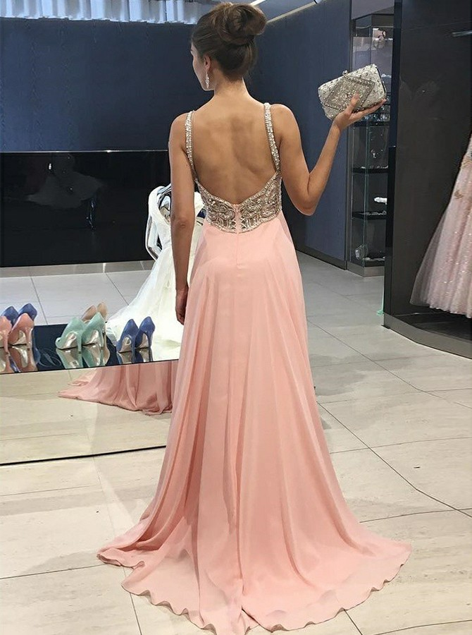 Sheath Spaghetti Straps Long Prom/Evening Dress with Appliques