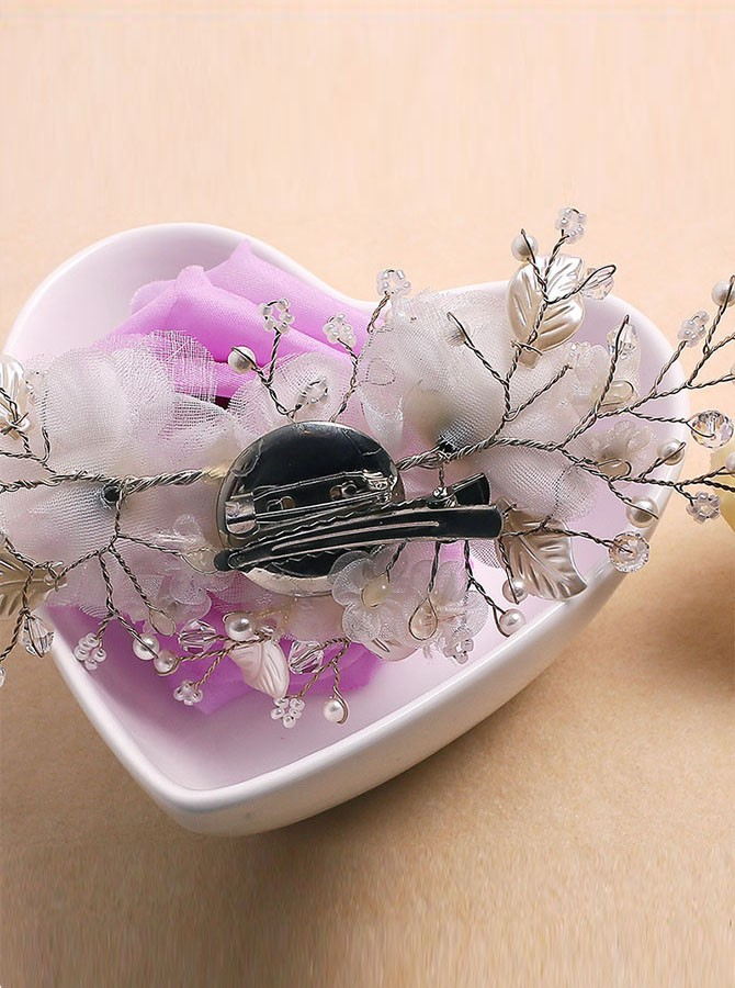 White Flower Pearl Hairpin