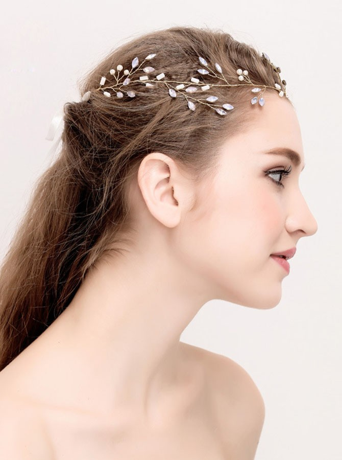 Gold Crystal Rhinestone Headband