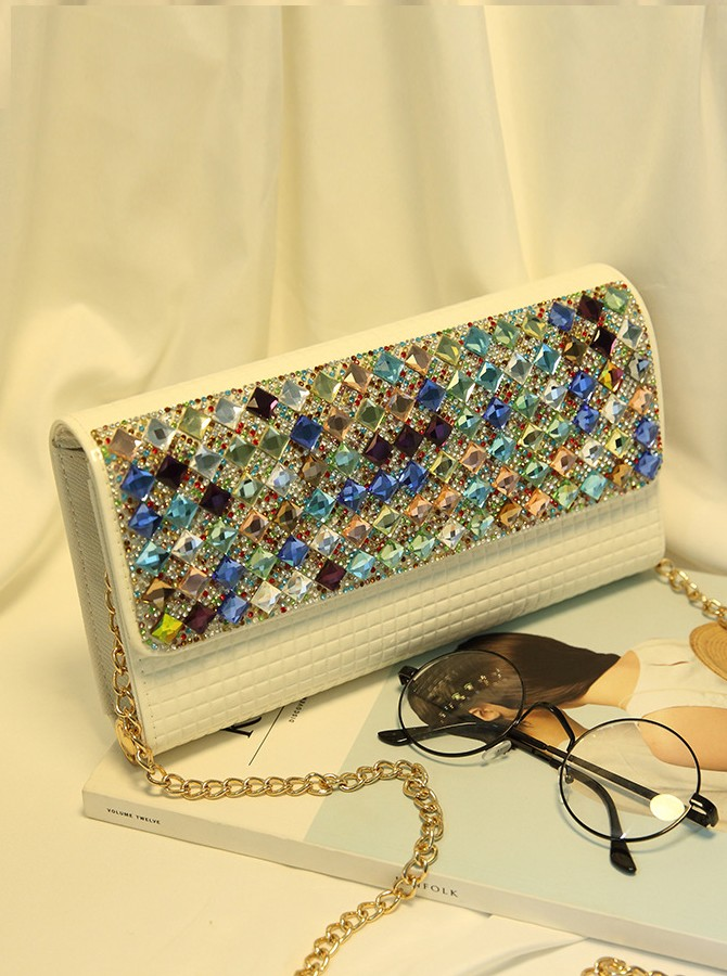 Black Rhinestone Clutch Bag