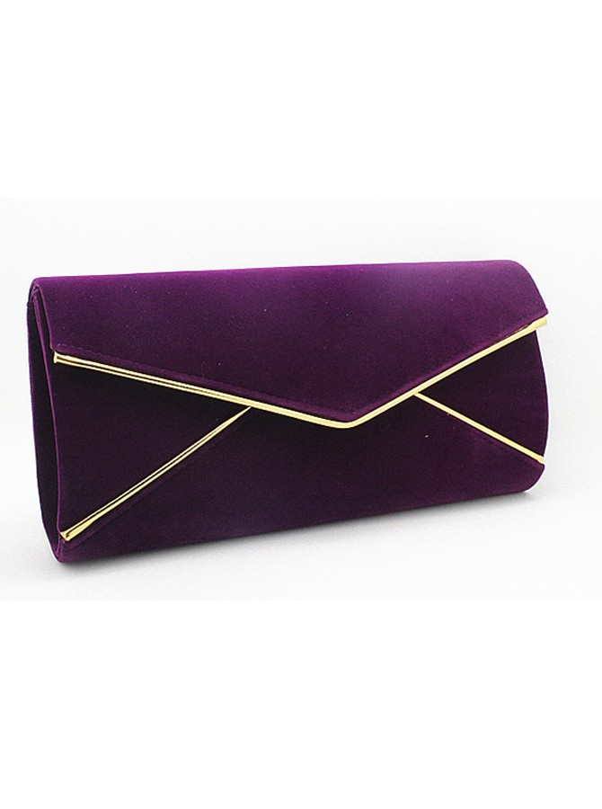Red Velvet Envelope Clutch Bag