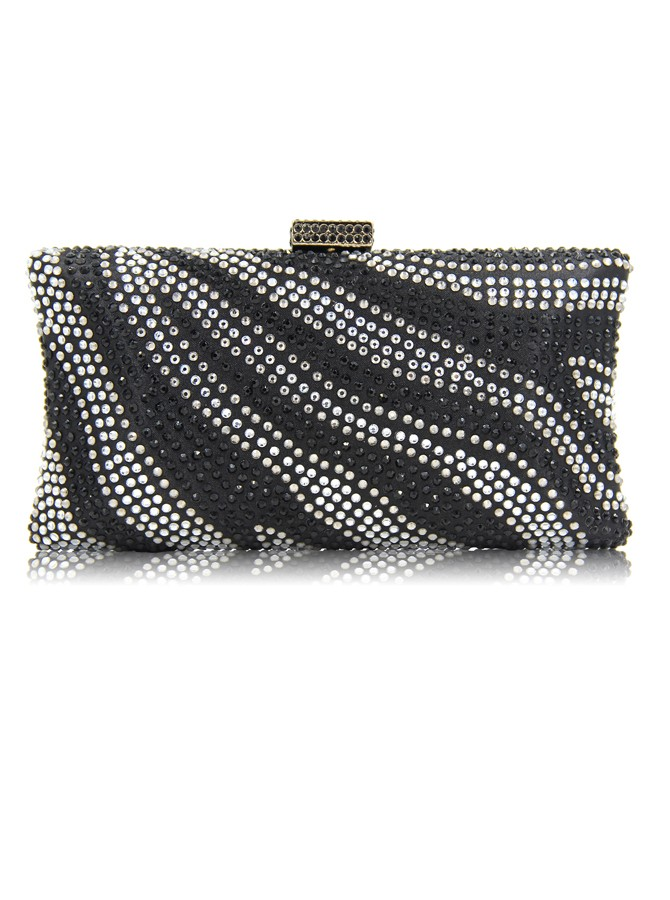 Gold Beaded Clutch Bag