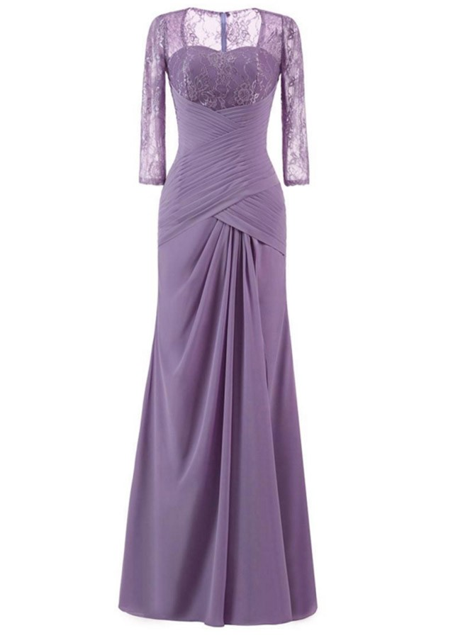 A-Line Floor Length Sweetheart Chiffon Mother Of The Bride Dress