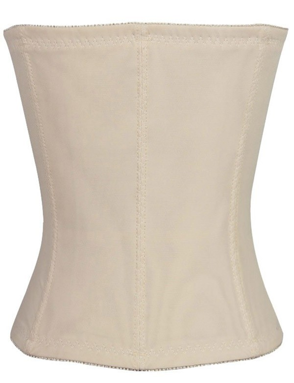 Nude Three Hooks Polyester Shapewear with Lace