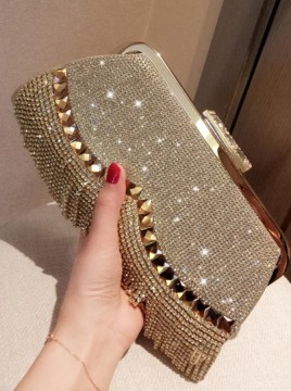 Gold Clutch/Totes with Tassel
