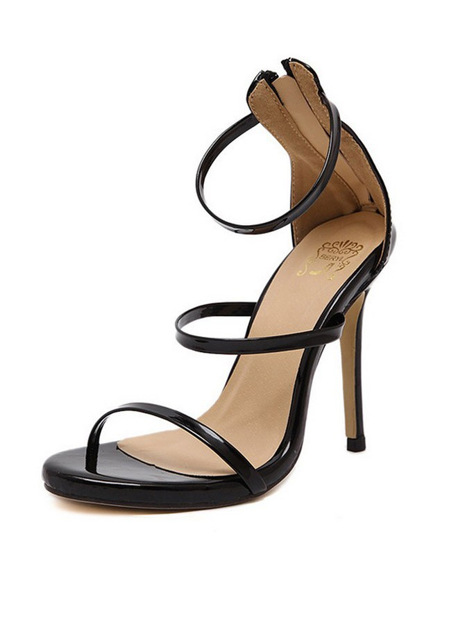 Chic Stiletto Heel Ankle Strap Sandal