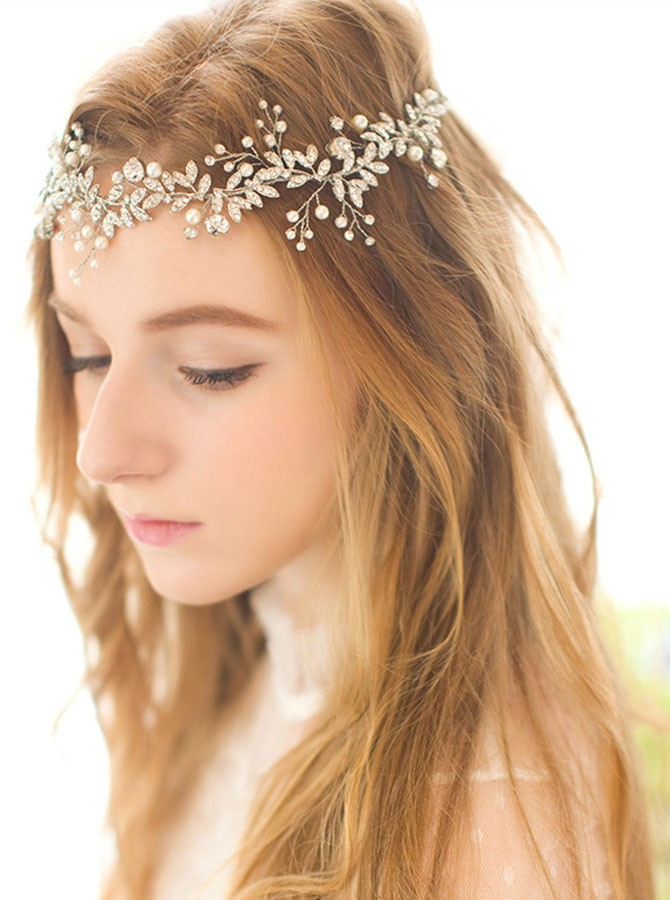 Silver Pearl Beaded Headband