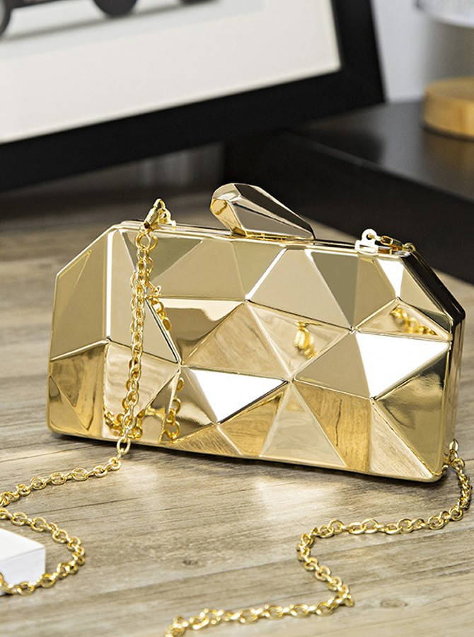 Metal Gometric Clutch/Satchel