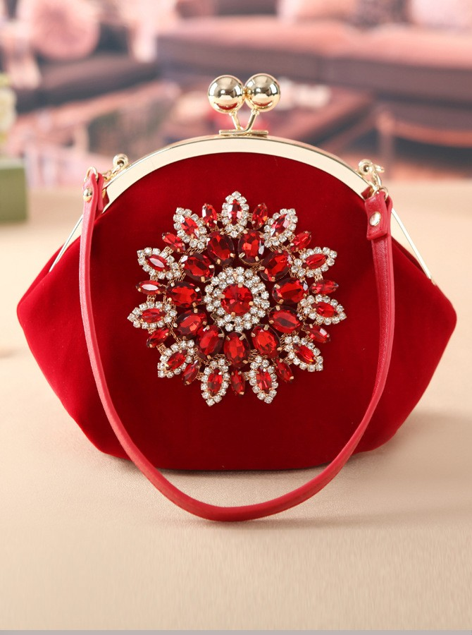 Red Crystal Tote/Clutch