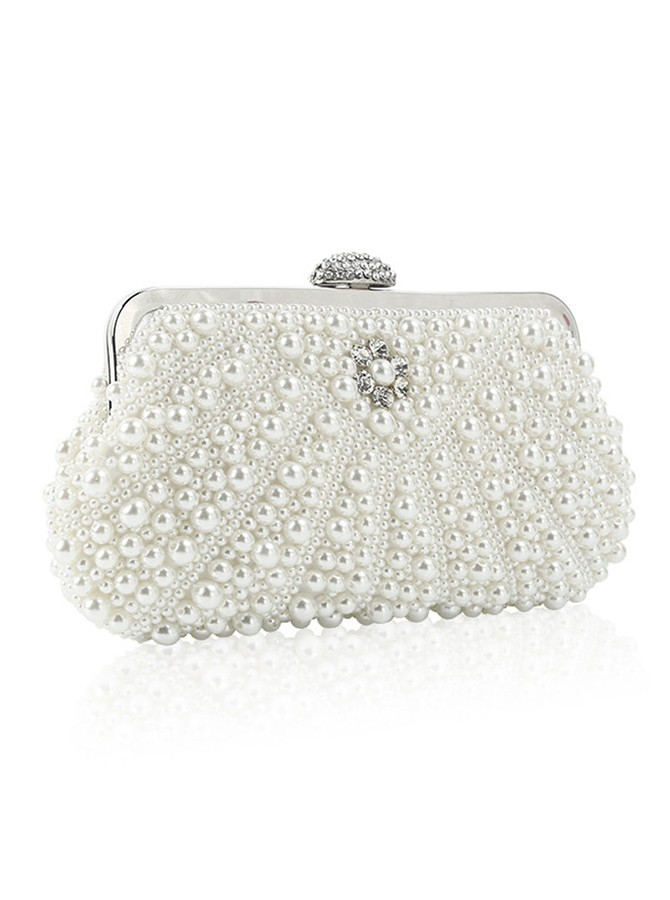 White Pearls Bridal Purse