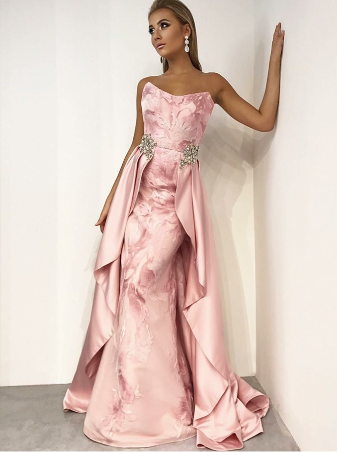 Detachable Sweetheart Long Prom/Evening Dress with Beading